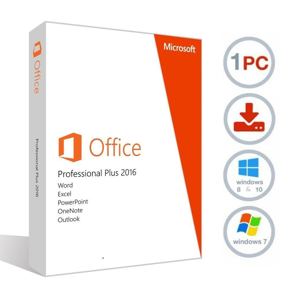 Today Deal - Office Professional Plus 2016 32 64 Bit - License & Download »  MS OFFICE WORKS